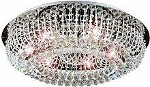 Led Deckenlampe Glas Kristall Strass Kronleuchter