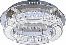 LED Deckenleuchte 1 flammig Deckenlampe Wohnzimmerlampe mit Kristall (Deckenlicht, Deckenstrahler, Flur, Küche, Schlafzimmer, 37 x 10 cm, inkl. Leuchtmittel 1 x 20 Watt, EEK A)