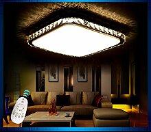 LED Deckenleuchte 2017-70x50 Kristall bernstern / 70x50cm inkl.LEDs und Fernbedienung Lichtfarbe/ Helligkeit einstellbar 32w [Energieklasse A+] (bernstein) LED Wohnzimmerleuchte Kronleuchte Pendelleuchte DeckenlampeDeckenstrahler LED Deckenleuchte Hängeleuchte Hängelampe LED lampe LED Leuchte Beleuchtung Einbauleuchte Wandleuchte Spot Lüster