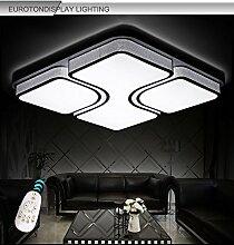 LED Deckenleuchte 2021-865X865mm-white 80W Acryl-Schirm weiß lackierte Rahmen durchbohrte Design mit Fernbedienung Lichtfarbe/ Helligkeit einstellbar LED Wohnzimmerleuchte Kronleuchte Pendelleuchte DeckenlampeDeckenstrahler LED Deckenleuchte Hängeleuchte Hängelampe LED lampe LED Leuchte Beleuchtung Einbauleuchte Wandleuchte Spot Lüster