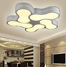 LED Deckenleuchte 2029 mit Fernbedienung Lichtfarbe/ Helligkeit einstellbar Acryl-Schirm weißlackierte Metallrahmen durchbohrte Design Energieeffizienzklasse: A+ (2029-5 60w) LED Wohnzimmerleuchte Kronleuchte Pendelleuchte DeckenlampeDeckenstrahler LED Deckenleuchte Hängeleuchte Hängelampe LED lampe LED Leuchte Beleuchtung Einbauleuchte Wandleuchte Spot Lüster