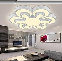 LED Deckenleuchte 2031-6 Kleeblatt Design Acryl-Schirm mit Fernbedienung Lichtfarbe/ Helligkeit einstellbar Energieeffizienzklasse: A+ LED Wohnzimmerleuchte Kronleuchte Pendelleuchte DeckenlampeDeckenstrahler LED Deckenleuchte Hängeleuchte Hängelampe LED lampe LED Leuchte Beleuchtung Einbauleuchte Wandleuchte Spot Lüster