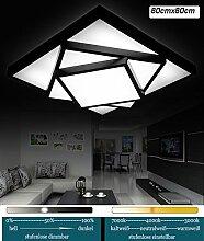 LED Deckenleuchte 2056-80x80cm LED 60W Acryl-Schirm schwarz lackierte Metallrahmen in Matt mit Fernbedienung Lichtfarbe/ Helligkeit einstellbar (2056-80x80cm LED 60W) LED Wohnzimmerleuchte Kronleuchte Pendelleuchte DeckenlampeDeckenstrahler LED Deckenleuchte Hängeleuchte Hängelampe LED lampe LED Leuchte Beleuchtung Einbauleuchte Wandleuchte Spot Lüster