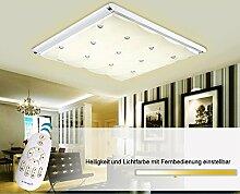 LED Deckenleuchte 3906-68x63,extra dünn 9cm, mit Fernbedienung Lichtfarbe/Helligkeit einstellbar 60 W Energieeffizienzklasse: A+