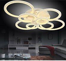 LED Deckenleuchte 6067-8 mit Fernbedienung Lichtfarbe/ Helligkeit einstellbar Acryl-Schirm weiß lackierte Metallrahmen Design A+ (6067-8 148W)