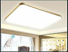 LED Deckenleuchte 6088-65x43cm Rahmen gold 32W Fernbedienung Lichtfarbe/Helligkeit einstellbar Energieeffizienzklasse: A+ LED Wohnzimmerleuchte Kronleuchte Pendelleuchte DeckenlampeDeckenstrahler LED Deckenleuchte Hängeleuchte Hängelampe LED lampe LED Leuchte Beleuchtung Einbauleuchte Wandleuchte Spot Lüster