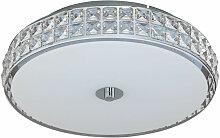 LED Deckenleuchte aus Glas, dimmbar, rund