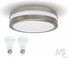 LED Deckenleuchte Bad-Lampe Aussen-Leuchte PROVANCE E27 230V IP44 (inkl. 2x LED 6W Warmweiss) LED Lampe Wandleuchte LED-Deckenleuchte Außenleuchte Wandstrahler LED Leuchte Aussenbeleuchtung Wohnzimmerlampe für Badezimmer Küche Flur Badlampe Badleuchte Rund