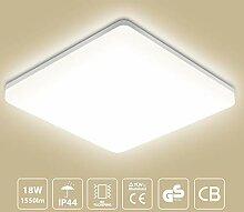 LED Deckenleuchte Badleuchte, 18W 1550lm, Oeegoo