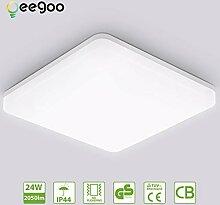 LED Deckenleuchte Badleuchte, 24W 2050lm, Oeegoo
