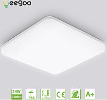 LED Deckenleuchte Badleuchte, 24W 2400lm, Oeegoo