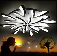 LED Deckenleuchte Deckenlampe 8009 mit Fernbedienung Lichtfarbe/ Helligkeit einstellbar Acryl-Schirm weiß lackierte Metallrahmen (8009-12 Ø 110cm LED 108W) LED Wohnzimmerleuchte Kronleuchte Pendelleuchte DeckenlampeDeckenstrahler LED Deckenleuchte Hängeleuchte Hängelampe LED lampe LED Leuchte Beleuchtung Einbauleuchte Wandleuchte Spot Lüster