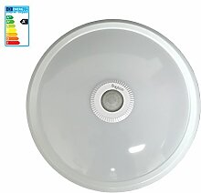 LED Deckenleuchte Deckenlampe Wandlampe Wandleuchte mit Bewegunsmelder 360° sensor inklusive LED leuchtmittel weißer rahmen 230v 12 Watt Kaltweiß