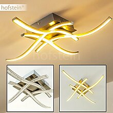 LED Deckenleuchte Designer-Lampe - Lichtleisten mit LED und Acrylperlen für Glanzeffekte - Effektvolle Wohnzimmerlampe aus Metall und Kunststoff mit geschwungenen Leuchtstäben