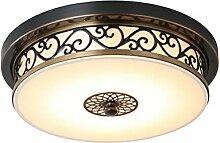 LED Deckenleuchte Dimmbar Vintage Design Rund