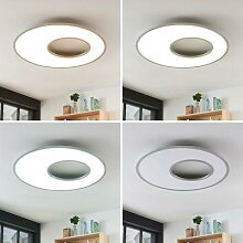 LED-Deckenleuchte Durun, dimmbar, CCT, rund, 80 cm
