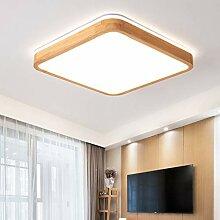 LED Deckenleuchte Eckig Holz Deckenlampe