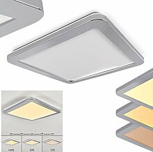 LED Deckenleuchte Fasola, eckiges Deckenpanel aus