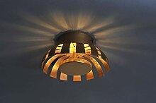 LED Deckenleuchte Gold Design Ø26cm 3000K 1100lm