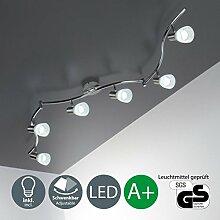 LED Deckenleuchte I 6 Flammiger Deckenstrahler Schlafzimmer Lampe Schwenkbar Inkl