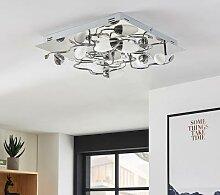 LED-Deckenleuchte Mischa, 8-fl., dimmbar, eckig