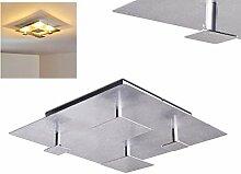 LED Deckenleuchte Nadkala, quadratische