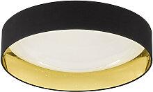 LED-DECKENLEUCHTE , Schwarz, Gold , Kunststoff ,
