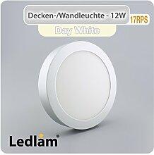 LED Deckenleuchte silber rund Ø 17cm 12 Watt (80