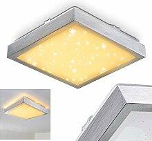 LED Deckenleuchte Sora, eckige aus Metall in