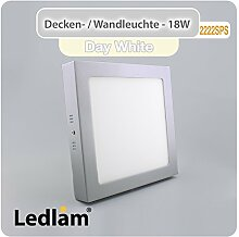 LED Deckenleuchte Wandleuchte silber quadratisch