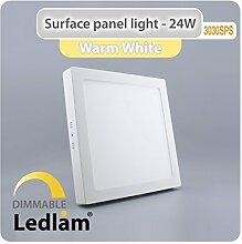LED Deckenleuchte weiß 24 Watt quadratisch