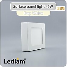 LED Deckenleuchte weiß 6 Watt quadratisch 12x12cm