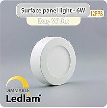 LED Deckenleuchte weiß 6 Watt rund 12cm - neutral