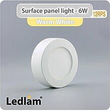 LED Deckenleuchte weiß 6 Watt rund 12cm - warm