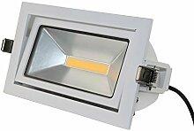 LED Deckenleuchte weiß eckig schwenkbar 35W 230V