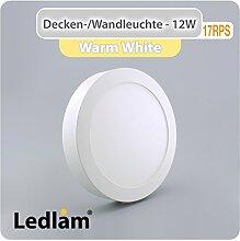 LED Deckenleuchte weiß rund Ø 17cm 12 Watt (80