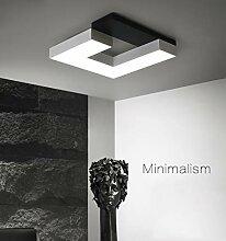 LED Deckenleuchte Weiß/Schwarz Ø42cm, 24W