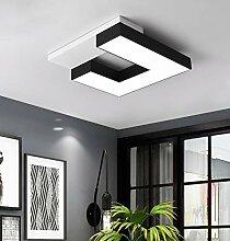 LED Deckenleuchte Weiß/Schwarz Ø60cm, 48W