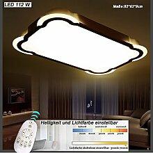LED Deckenleuchte Y8113-950*620mm LED 112W Rahmenlicht 40W warmweiß 4000k +Innenlicht 72W mit Fernbedienung Lichtfarbe/ Helligkeit einstellbar weiß lackierte Metallrahmen A+ (Y8113-950*620mm 112W)