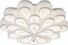 Led Deckenleuchten, Kreatives Wohnzimmer Blume Form Schlafzimmer Lichter Heirat Zimmer Dekoration Deckenleuchte Restaurant Lichter Hotel Zimmer Lichter 81 * 81 * 20cm ( Farbe : Warmweiß , größe : 81*81*20CM )