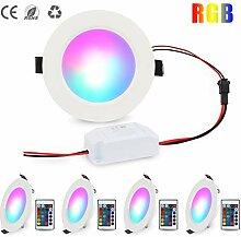 LED Deckenspots Dimmbar 16 Farben 5W RGB