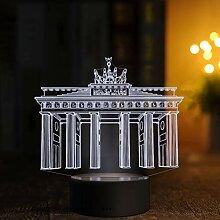 LED Deko Lampe Berlin Brandenburger Tor -