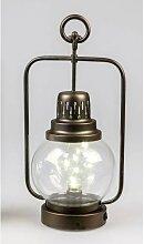 LED Deko Laterne, Lampe HELGOLAND H. 38cm antik