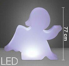 LED-Dekoleuchte in Weiß ca. 85/77 cm