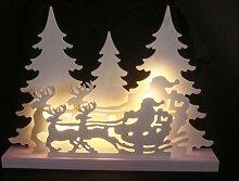 LED Dekoleuchte Winterwald Schlitten