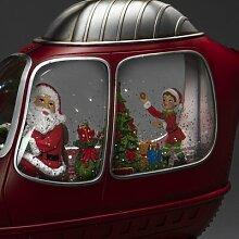 LED-Dekoration Weihnachtsmann und Wichtel