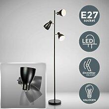 LED Design Stehleuchte Metall Deckenfluter