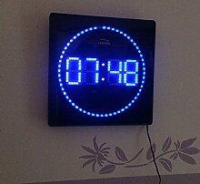 LED digitale Wanduhr mit Temperatur Alarm und