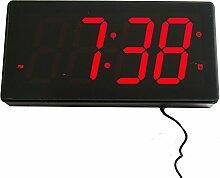 LED digitale Wanduhr Multifunktion mit Datum- & Temperaturanzeige, Maße: 32 cm x 15,5 cm x 4 cm. Goldfull®