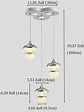 LED Dimmbare Deckenleuchte Kristall Hängend
